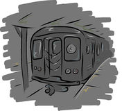 L metro do trem Imagens de Stock Royalty Free