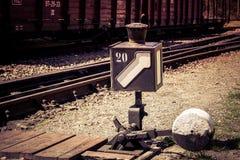 L?mpada do interruptor da estrada de ferro foto de stock