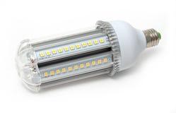 L?mpadas, tira e projetor do diodo emissor de luz no fundo branco foto de stock