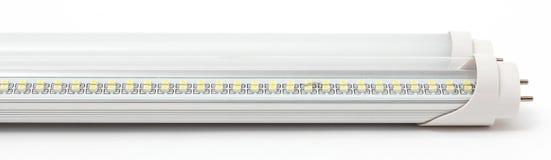 L?mpadas, tira e projetor do diodo emissor de luz no fundo branco imagem de stock royalty free