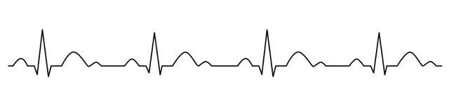 L?nea del latido del coraz?n cardiogram electrocardiograma Ilustraci?n del vector stock de ilustración