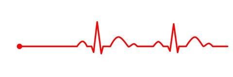 L?nea del latido del coraz?n cardiogram electrocardiograma Ilustraci?n del vector libre illustration