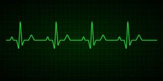 L?nea del latido del coraz?n cardiogram electrocardiograma Ilustraci?n del vector ilustración del vector