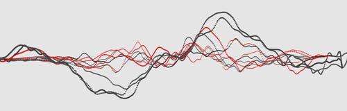 L?nea del latido del coraz?n cardiogram Pulso del coraz?n Flujo ligero din?mico representaci?n 3d ilustración del vector