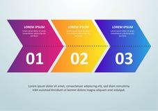 L?nea fina dise?o de Infographic del vector con los iconos y 3 opciones o pasos Infographics para el concepto del negocio puede s stock de ilustración