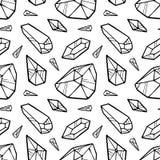 L?nea modelo incons?til del negro del vector de los cristales aislado en el fondo blanco ilustración del vector