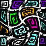 L?neas brillantemente coloreadas pintada en un ejemplo negro del fondo libre illustration