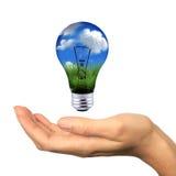 L'énergie renouvelable est dans la portée Photographie stock