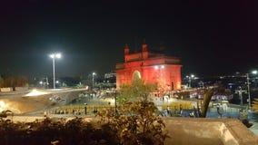 L?ngt skott av nyckeln av Indien p? natten royaltyfri foto