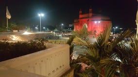 L?ngt skott av nyckeln av Indien p? natten royaltyfri fotografi