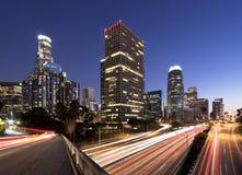 L.A. at night Royalty Free Stock Photos