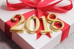 l'or 2018 numérote le texte avec le cadeau image libre de droits