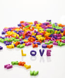 L O V E letters Royalty Free Stock Photo