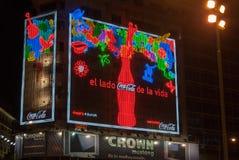 L'obélisque - Buenos Aires, Argentine la nuit Photos stock
