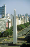 L'obélisque sur Avenida 9 de Julio, Buenos Aires, Argentine Photo stock