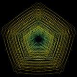 L'objet cosmique est une fractale géométrique Photographie stock