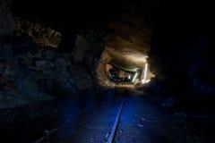 L'obscurité dans la mine Photographie stock libre de droits