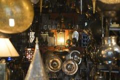 l'obscurité dans les allées du Souk sur les marchés orientaux Image libre de droits