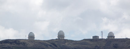 L'observatoire astronomique de Llano del Hato National Photographie stock libre de droits