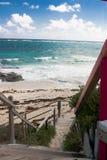 l'Océan Atlantique au banc de sable de Guana, Bahamas Photographie stock libre de droits