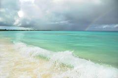 l'Océan Atlantique avant la tempête image stock