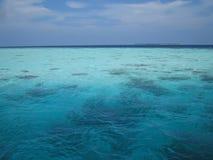 L'océan des Maldives Photo libre de droits