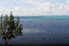L'Océan Indien près de l'île de Rodriguez photo stock