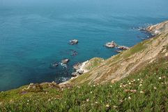 L'océan pacifique au point Reyes photo stock