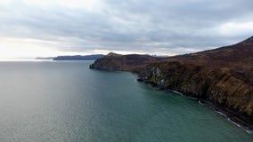 L'océan pacifique, le Kamtchatka banque de vidéos
