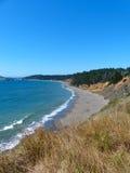 L'océan pacifique Shoreline, côte de l'Orégon Photo libre de droits