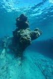 L'océan pacifique sous-marin naturel de formation de roche Images stock