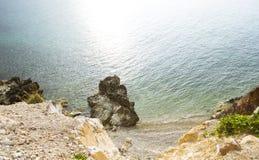 L'océan regarde d'en haut Images libres de droits