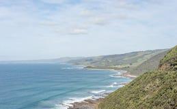 L'océan rencontre l'Australie Image libre de droits