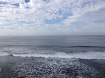 L'océan rencontre la mer Photo libre de droits