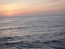 L'océan Sunset Image libre de droits