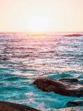 L'océan Sunset Photo libre de droits