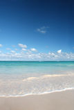 l'océan des Caraïbes de plage sable le blanc tropical Images libres de droits