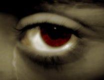 L'occhio ardente Fotografia Stock