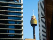 L'occhio della torre di Sydney è la seconda torre di osservazione più alta nell'emisfero australe Fotografie Stock Libere da Diritti