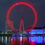 L'occhio di Londra è la ruota panoramica più alta in Europa Immagini Stock