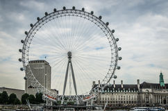 L'occhio di Londra dal Tamigi a Londra, Inghilterra Fotografia Stock