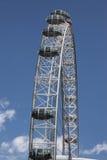 L'occhio di Londra a Londra, Regno Unito è la ruota panoramica più alta Fotografie Stock