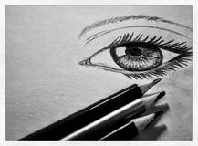 L'occhio disegna Fotografia Stock Libera da Diritti