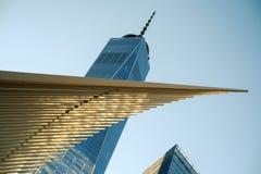 L'occhio e il WTC 1 fotografie stock libere da diritti