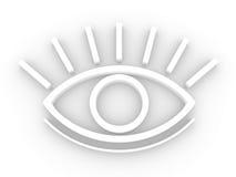 L'occhio stilizzato Fotografia Stock Libera da Diritti