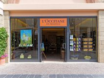 L ` Occitane en普罗旺斯商店在罗马,意大利 库存图片