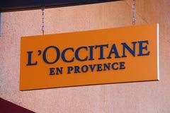 L ` Occitane Logo On Store Front Sign Foto de archivo libre de regalías