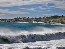 L'Oceano Atlantico, area della spiaggia della baia dei campi Immagine Stock