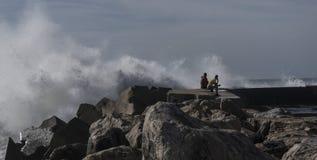 L'Oceano Atlantico del nord, onde Fotografie Stock Libere da Diritti