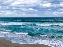L'Oceano Atlantico Miami Immagine Stock